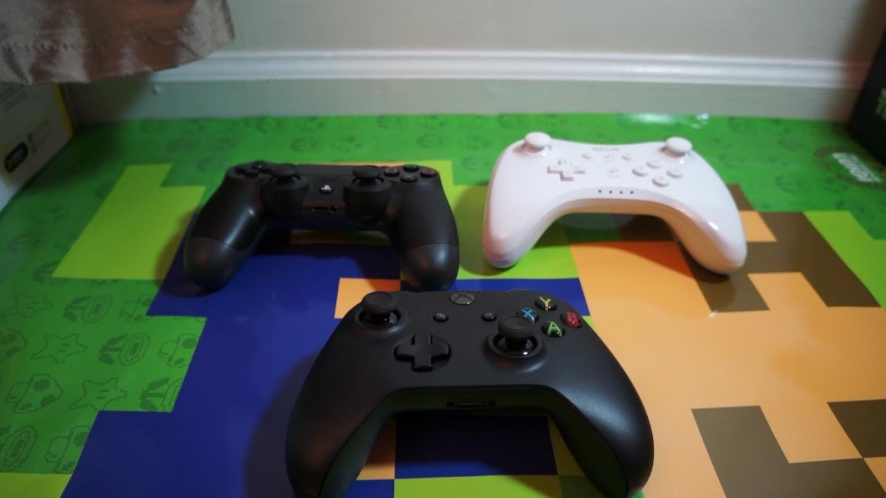 Hardware Review Xbox One Controller Vs PS4 Controller Vs Wii U Pro Controller YouTube