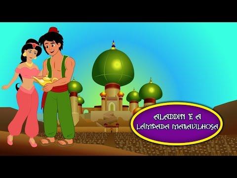 Aladdin e a Lâmpada Maravilhosa - Historia completa - Desenho animado infantil em Português