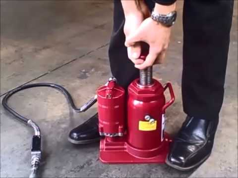How To Remove Air From An Air/Hydraulic Bottle Jack