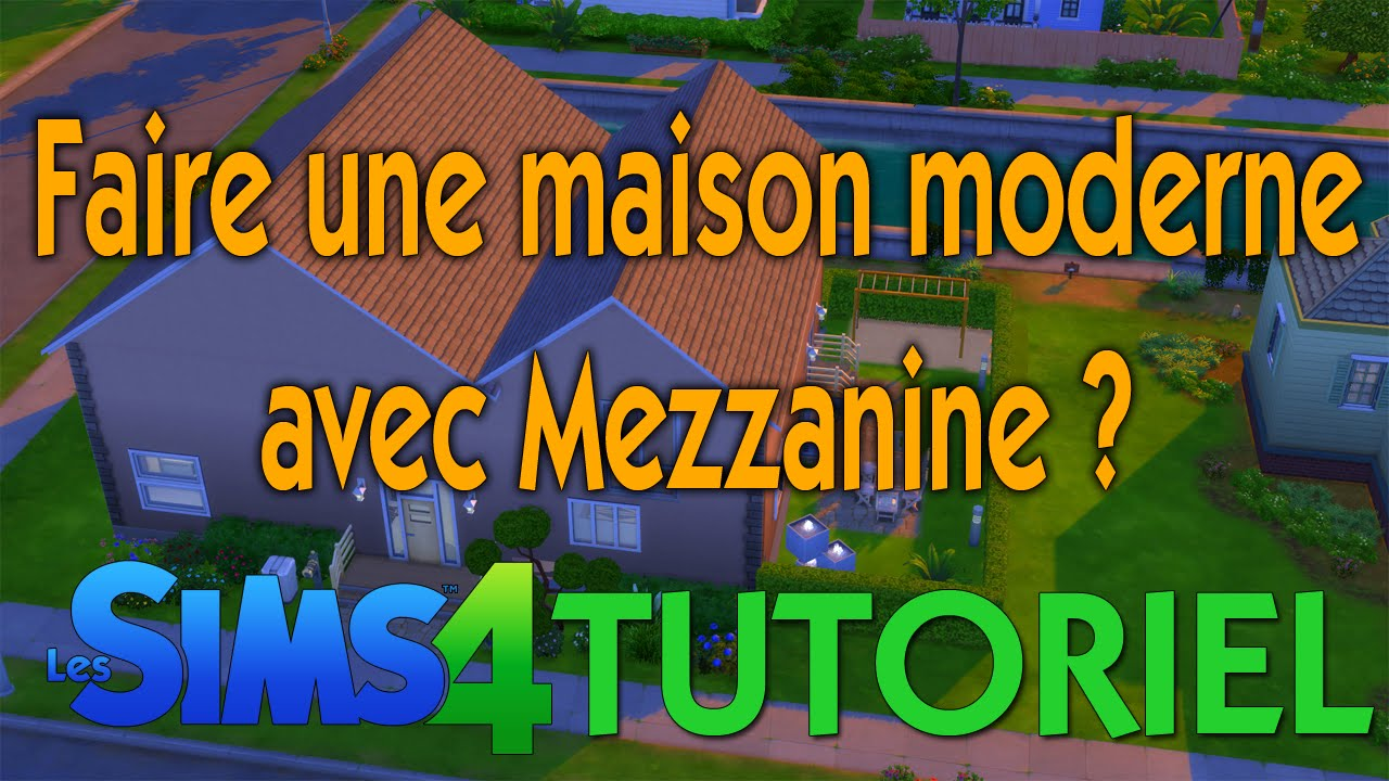 tutoriel les sims 4 comment faire une maison moderne. Black Bedroom Furniture Sets. Home Design Ideas