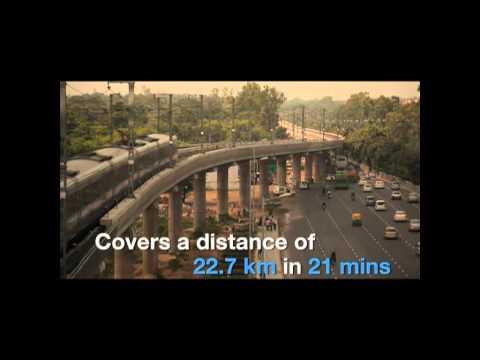 Reliance Metro Airport Express Line Delhi AV.flv