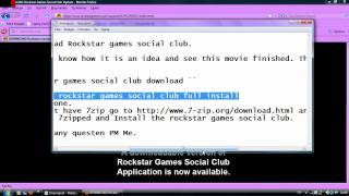 How to download rockstar games social club