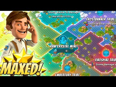 Boom Beach FULLY MAXED TRIBES!! Insane Tribe Upgrades and Boosts!