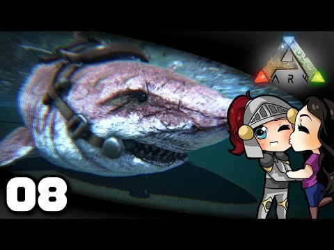 Welsknight & Wifey Play ARK  Ep 8: Fish Are Friends