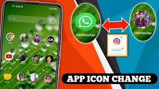 mobile ka koibe app me apna photo kaise lagaye ? app icon changer android