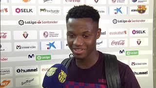 Ansu Fati   Osasuna 2 2 Barça Post Match Reaction