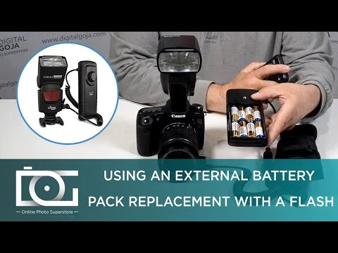 FLASH BATTERY PACK | How To Extend Battery For a Camera flash w/ a Speedlight Battery Pack For CANON