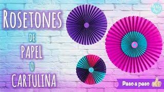 Cómo hacer Rosetones de papel o cartulina para decorar fiestas - DIY Paso a Paso👣|Party pop DIY!🎉|