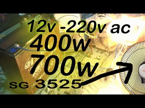 how to make a simple and powerfull 12v to 230v 600w inverter circuit