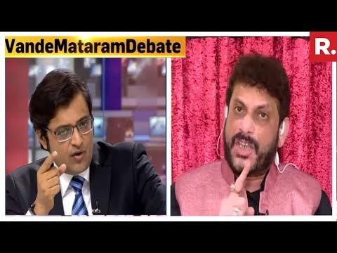 Arnab Goswami Speaks To Waris Pathan On Vande Mataram Controversy
