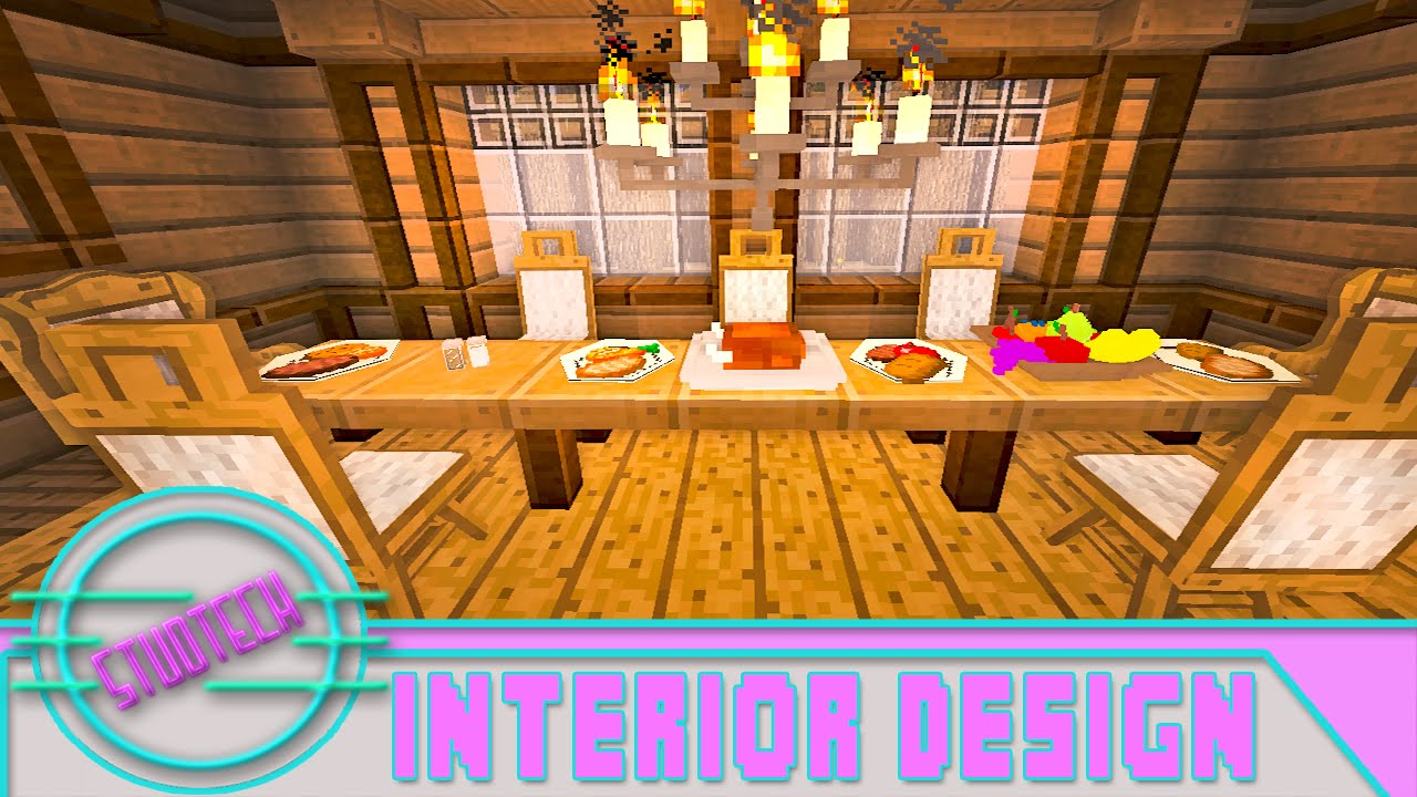 Modded Minecraft: Dining Room Furniture Design Ideas (StudTech Ep.18 on small kitchen in minecraft, bedroom design in minecraft, interior design ideas in minecraft,