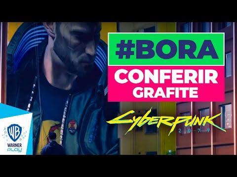 Grafite de Cyberpunk 2077 no Centro de São Paulo