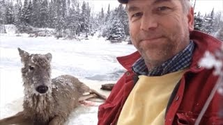 Deaf Man Tells Story of Rescuing Deer from Icy River As It Poses for Selfie