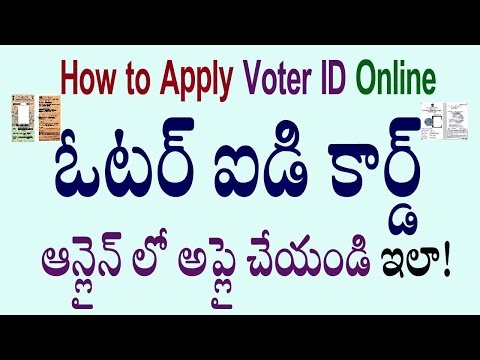 How to Apply Voter Id in Telugu Check Status Online 2015