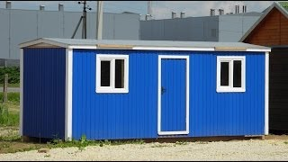 Бытовка с Профлиста, распашная с электрикой. Цена 45.000 руб.(Заходите к нам на сайт http://www.stroy-rus.spb.ru . Звоните, 943-33-55 «Площадка
