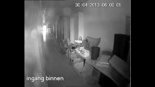 1 camera bewaking kortrijk installatie INFRAROOD REFLECTIE IN LENS CAMERA