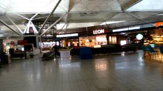 Stansted Airport Departure Gates and Shops - Strange Place - No Passengers