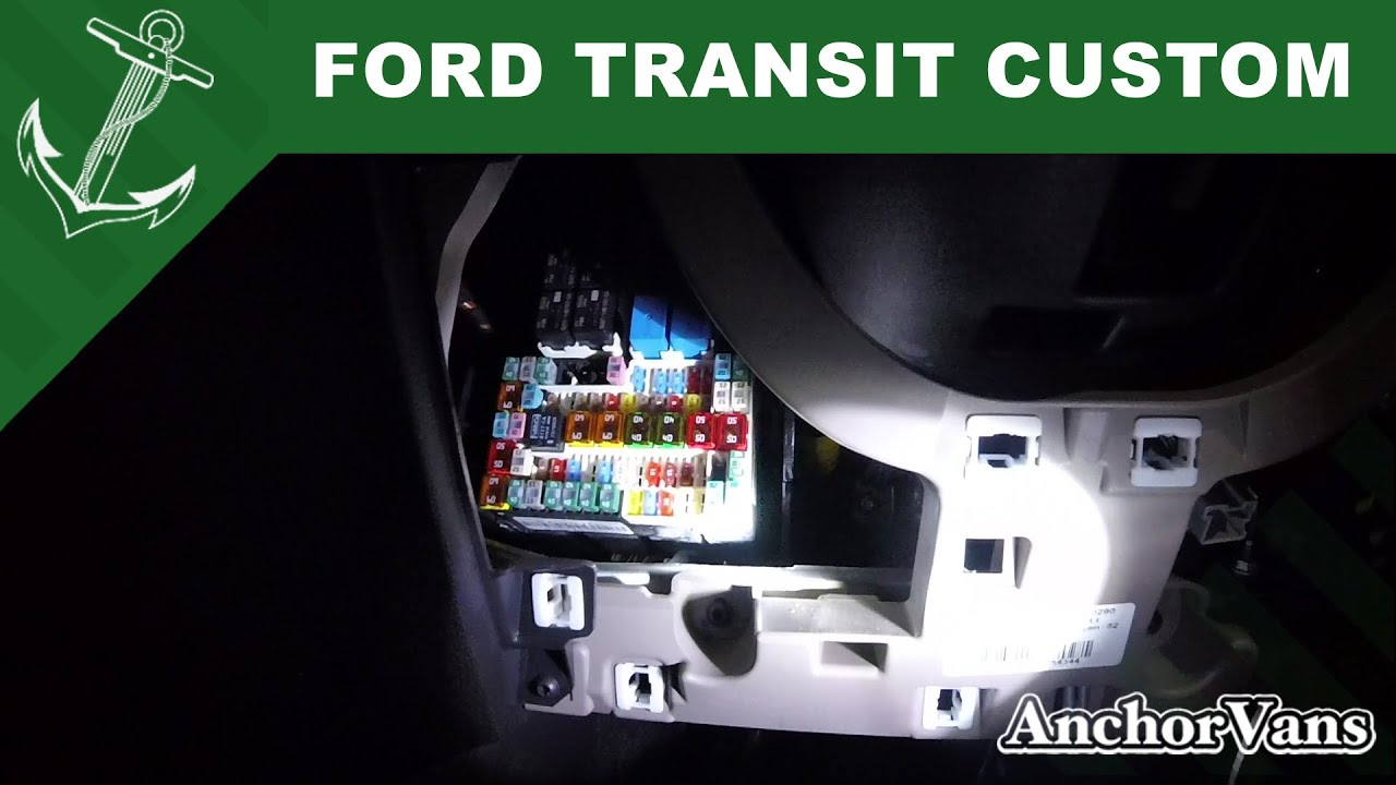 Ford Transit Custom Fuse Box Locations In 30 Seconds Youtube