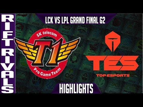 SKT vs TES Highlights Game 2 | Rift Rivals 2019 Final Bo5 LCK vs LPL | SK Telecom T1 vs Top Esports