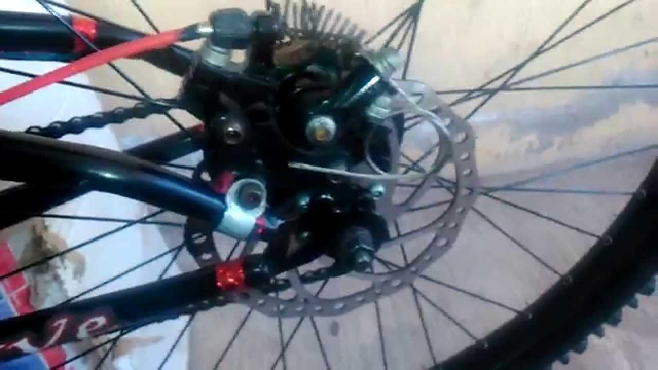 Adaptador p/ freno de disco bicicleta - YouTube