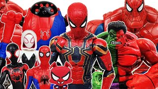 Spider-Man, Ham, Gwen! Avengers, Hulk, Iron Man, Captain America, Miles Morales, Thanos, Minimates
