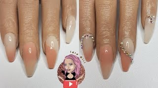 NUDE AND PINK NAILS WITH BLING ON POOCHIEZ HAND ROSIE   IdleGirl