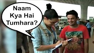 Shraddha Kapoor Gives Autograph To Fan At Airport