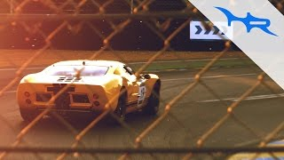 ford gt40s racing le mans at sunset pure v8 accelerations
