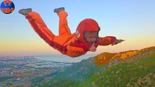 Влог КРУТОЙ Полет в Аэротрубе! Ярослава пробует экстремальный полет! Видео для детей