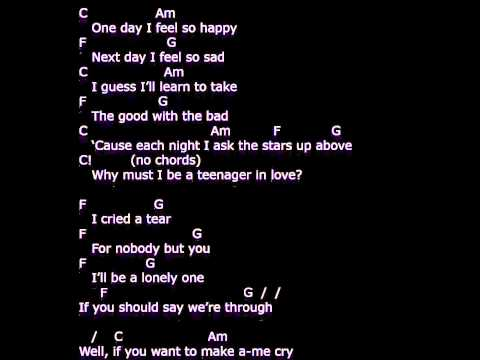 'A Teenager in Love' - lyrics & chords  -  strum your ukulele along with Dion and the Belmonts