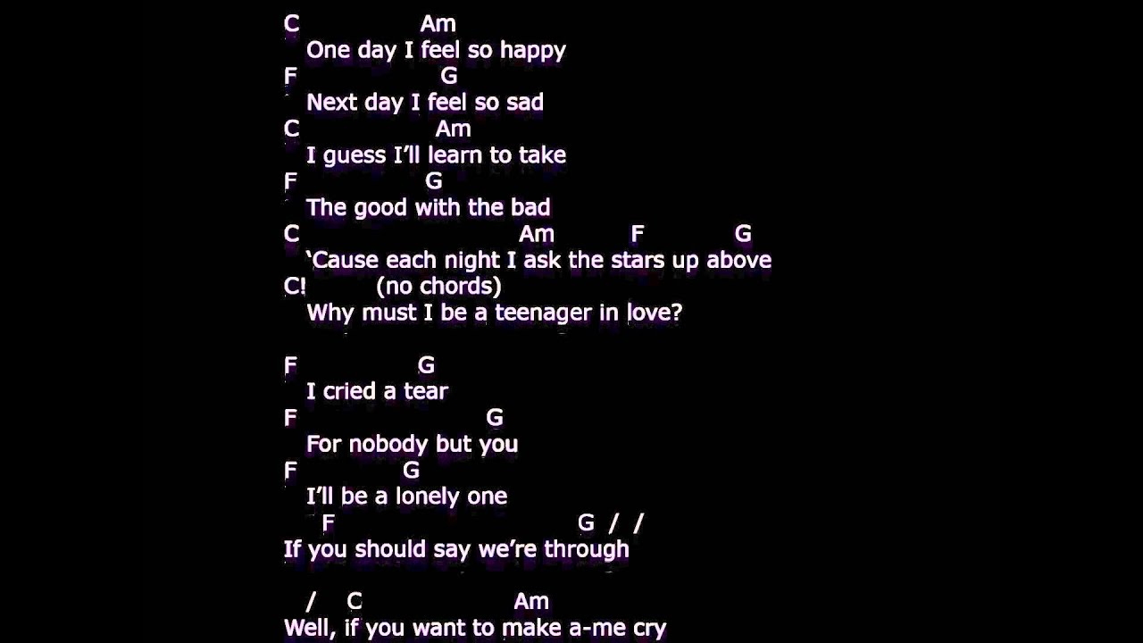 A teenager in love lyrics chords strum your ukulele along a teenager in love lyrics chords strum your ukulele along with dion and the belmonts hexwebz Image collections