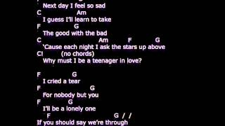 a teenager in love- - lyrics - chords  -  strum your ukulele along with dion and the belmonts