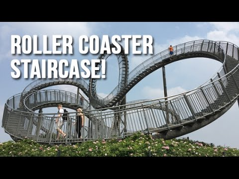 """Roller Coaster Staircase - """"Tiger and Turtle Magic Mountain"""" - Duisburg Germany"""