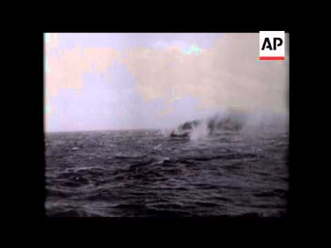 US Submarine Sinks Jap Boat