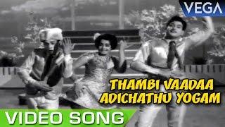 Thambi Vaadaa Adichathu Yogam Video Song   Ninaivil Nindraval Movie   Tamil Superhit Video Song