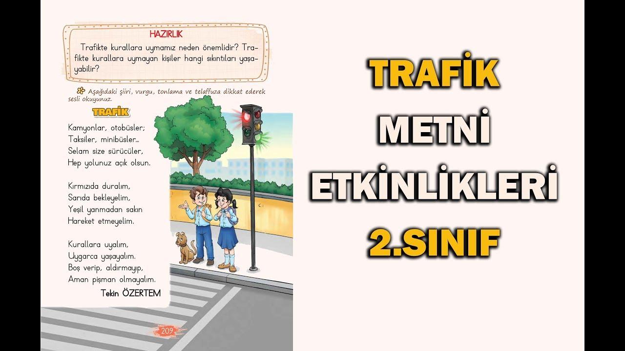 Trafik Şiiri Etkinlikleri ve Cevapları 2.Sınıf