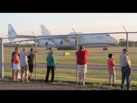 Antonov 225 Minneapolis take off - July 2, 2014