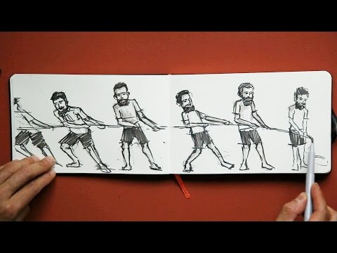 Sketchbook Tip: Drawing from Memory an Action Pose Sequence
