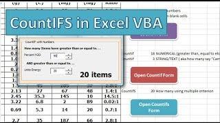 countIFS in Excel VBA