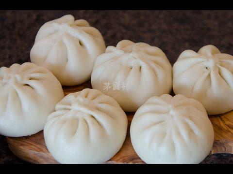 包子皮,如何包包子教學 1/2 How to Make Skin and Wrap Baozi Steam Buns