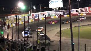 Bandits Feature 7-17-2019 at Rockford Speedway(car still racing with hood up)