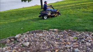 cub cadet rzt with a mulching attachment mulching leaves review