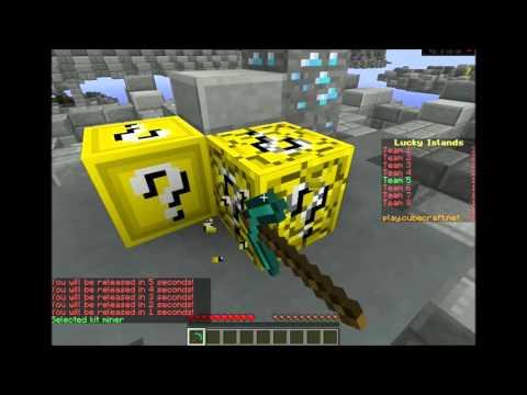 Minecraft Lucky Island | Pidiendo rango youtuber en cubecraft