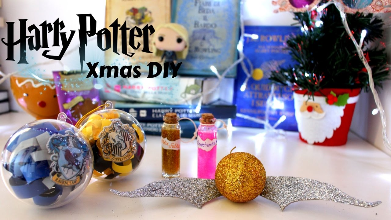 Immagini Natalizie Harry Potter.Diy Decorazioni Albero Harry Potter Readathon Day 1