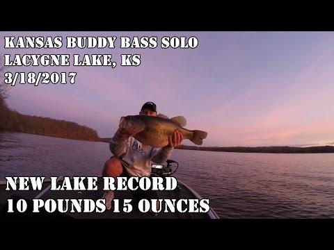 10 lb 15 oz largemouth caught during a Kansas Buddy Bass Solo at LaCygne in Kansas