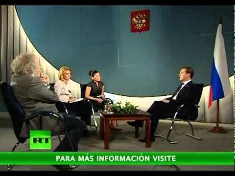 Entrevista a Medvédev en RT
