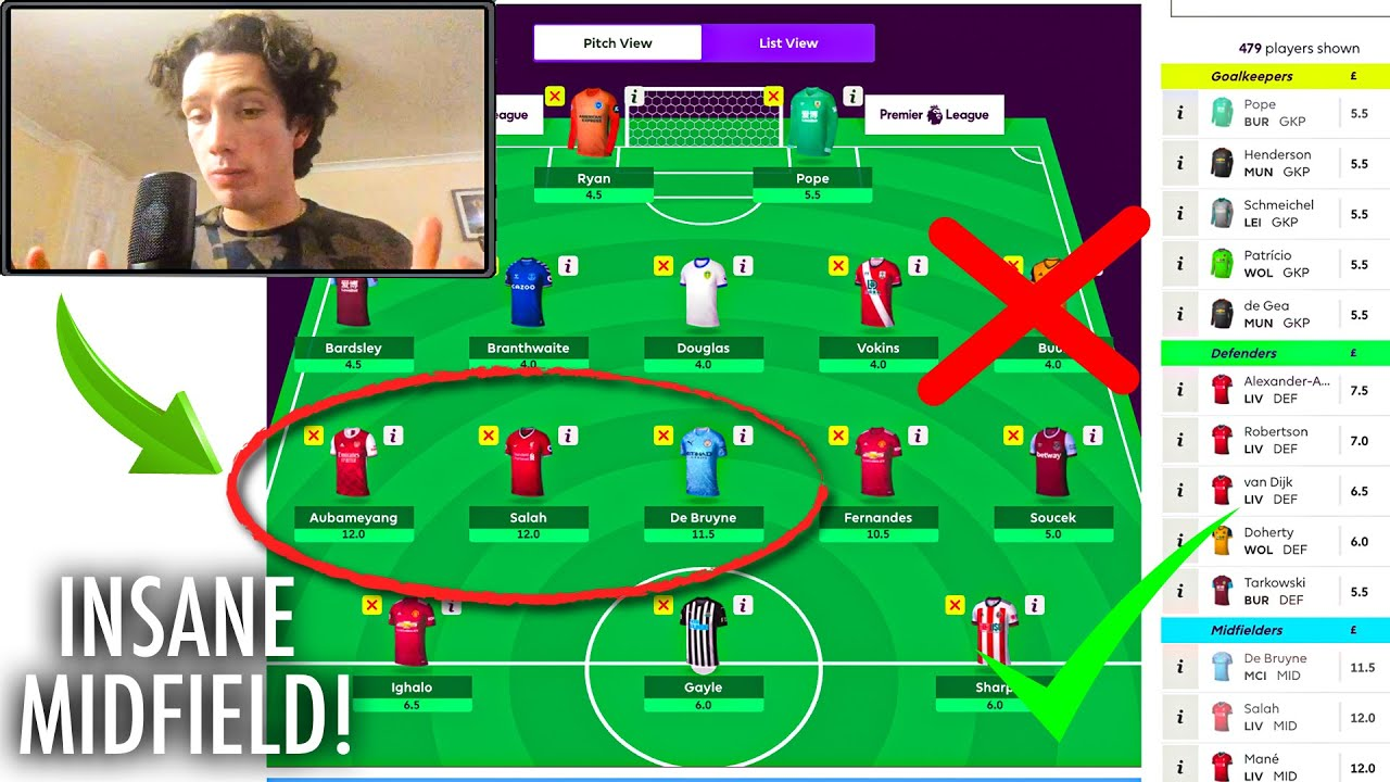 Best Players For Fantasy Football 2021 My Fantasy Premier League Gameweek 1 Team Selection 2020/2021