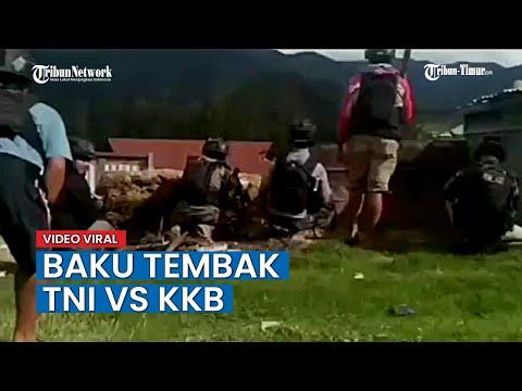VIDEO Detik-detik Baku Tembak TNI VS KKB Di Intan Jaya