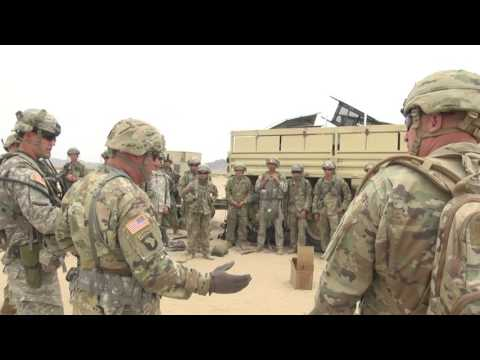 Illinois National Guard command visits troops at NTC