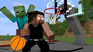 Monster School Basketball Challenge
